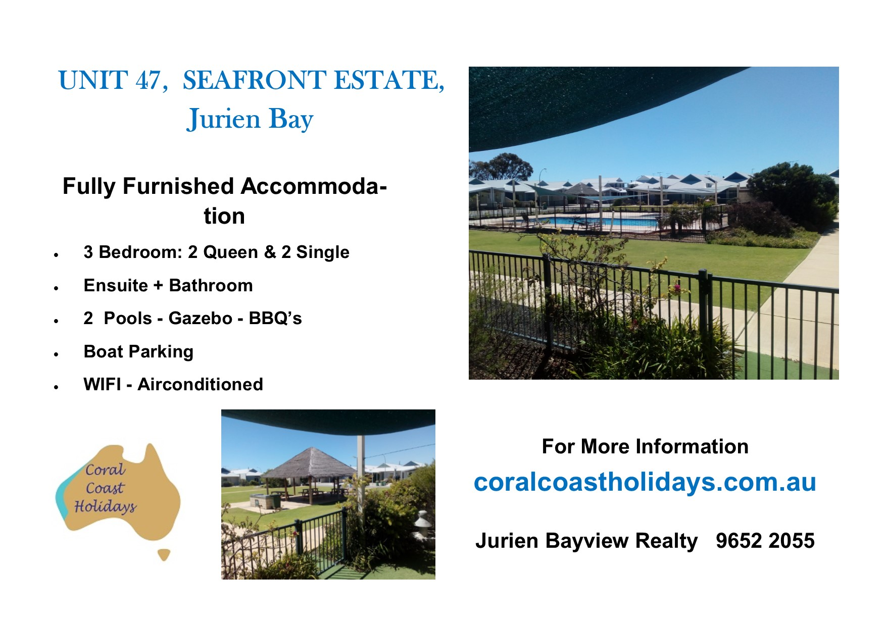 Ackland Coral Coast Holidays Advert